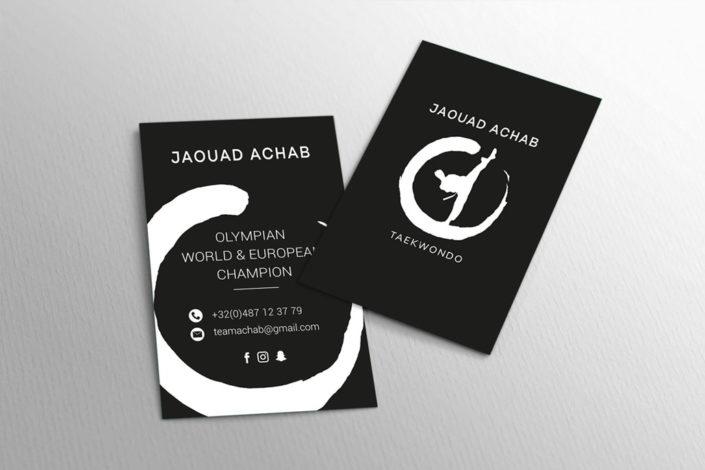 #design htagdesign cartes visite logo jaouad achab