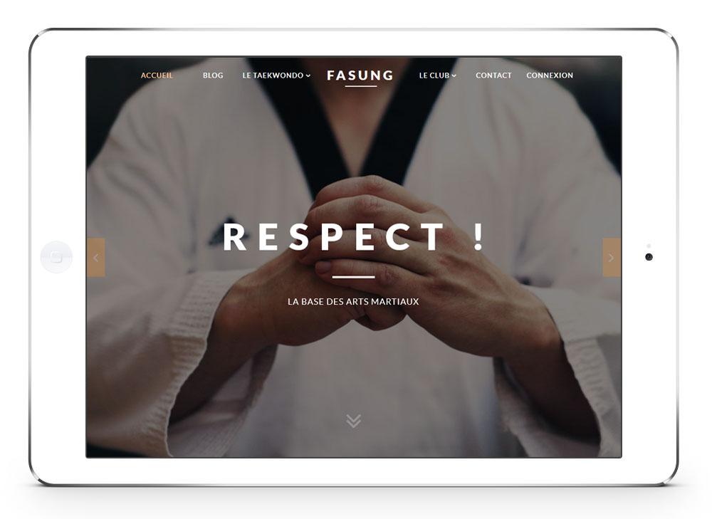 #design htagdesign logo taekwondo site tournai belgique fasung site web